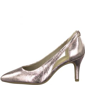 Rose Metallic Court Shoe
