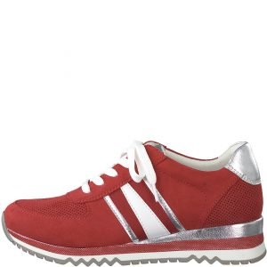 Hot Red Runner with Stripes