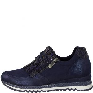 Navy Shoe with Fringe and Bow