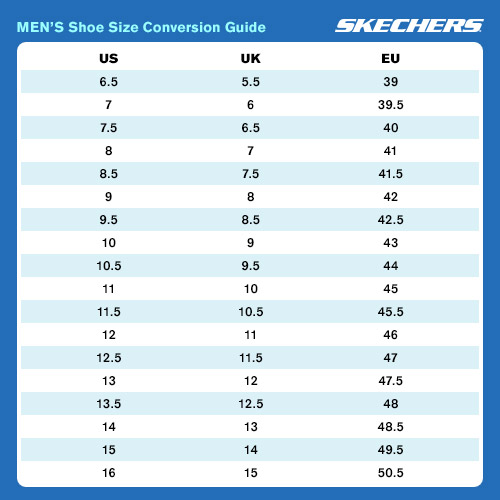 Skechers Mens Sizing Chart at Leavys Shoes